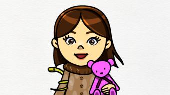 Pose 1 / Title : A brave woman / 勇敢な女性 Illustrator : Junichi Shimura Date : February 2015 Art : Disital