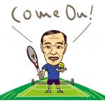 Enjoy tennis! Player's portrait / テニスを楽しもう!楽しむ人の似顔絵