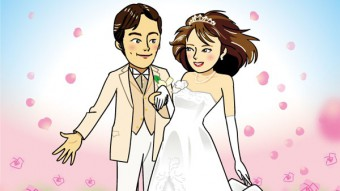 Title : Happy wedding! / 二人の幸せを祝福して *It is held in a private collection of my friend. Illustrator : Junichi Shimura Date : February 2015 Art : Degital